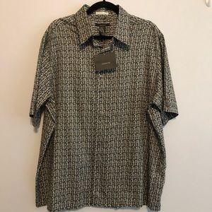 Claiborne XL Light cotton button up  short sleeve
